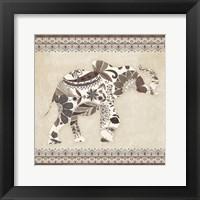Framed Boho Elephant I Neutral