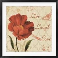 Framed Live Laugh Love Sq
