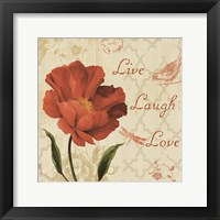 Framed Live Laugh Love Sq