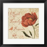 Framed Faith Family Friends Sq