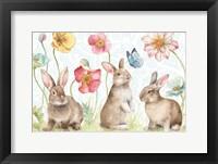 Framed Spring Softies Bunnies I