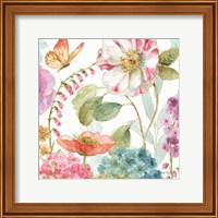 Framed Rainbow Seeds Flowers II
