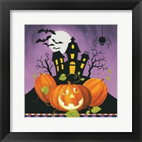 Framed Happy Haunting House on Pumpkins