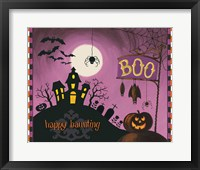 Framed Happy Haunting Boo