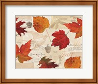 Framed Fall in Love - Autumn Leaves