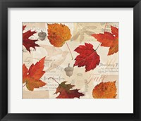 Framed Fall in Love - Autumn Leaves