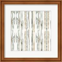 Framed Sand and Sea Gold Stripes