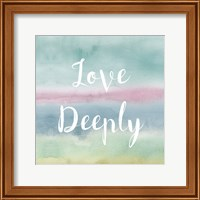 Framed Rainbow Seeds Painted Pattern XIV Cool Love