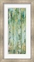 Framed Forest VII with Teal