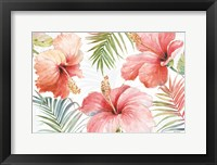 Framed Tropical Blush I