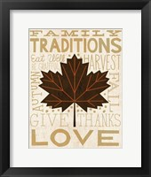 Framed Family Tree Leaf I