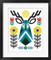 Framed Folk Lodge Deer II
