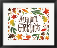 Framed Harvest Time Autumn Greetings