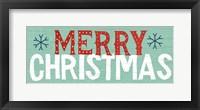 Framed Holiday on Wheels Merry Christmas v.2