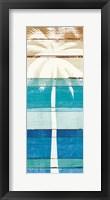 Framed Beachscape Palms V