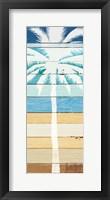 Framed Beachscape Palms IV