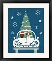 Framed Holiday on Wheels XIII Navy