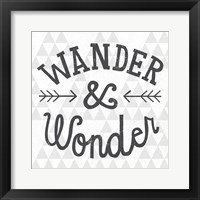 Mod Triangles Wander and Wonder Framed Print