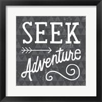 Mod Triangles Seek Adventure Framed Print