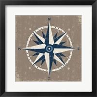 Framed Nautical Compass