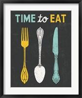 Framed Retro Diner Time to Eat