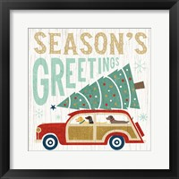 Holiday on Wheels II Framed Print