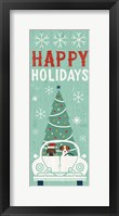 Framed Holiday on Wheels XIII Panel-1