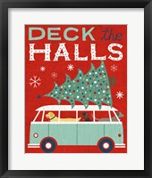 Framed Holiday on Wheels Red IV