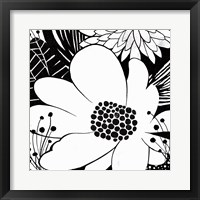 Framed Feeling Groovy II Black and White