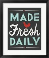 Framed Retro Diner Made Fresh Daily