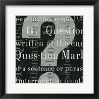 Framed Punctuated Text IV