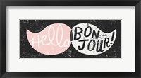 Framed Ridiculous Mustache Vintage Panel Black and Pink