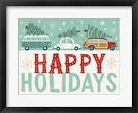 Framed Holiday on Wheels IX