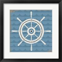 Framed Nautical Helm