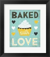 Framed Retro Diner Baked with Love