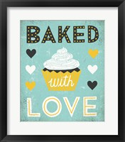 Framed Retro Diner Baked with Love