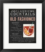 Framed Classic Cocktail Old Fashioned