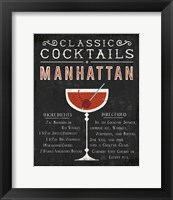 Framed Classic Cocktail Manhattan