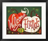 Framed Harvest Time Welcome Friends