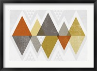 Framed Mod Triangles II Retro