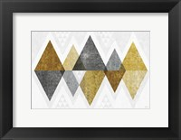 Framed Mod Triangles II Gold