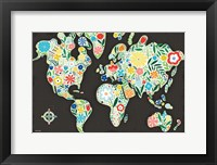Framed Floral World Black