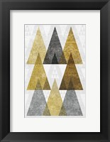 Framed Mod Triangles IV Gold