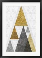 Framed Mod Triangles III Gold