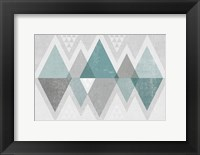Framed Mod Triangles II Grey