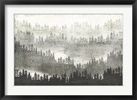 Framed Mountainscape Silver