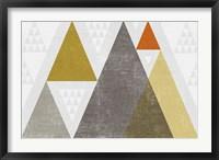 Framed Mod Triangles I Retro