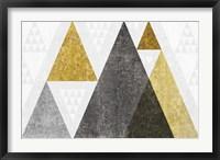Framed Mod Triangles I Gold