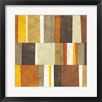 Framed Neutral and Spice Abstract