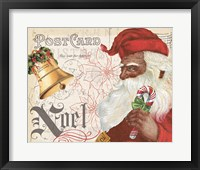 Framed Antique Holiday II Santa